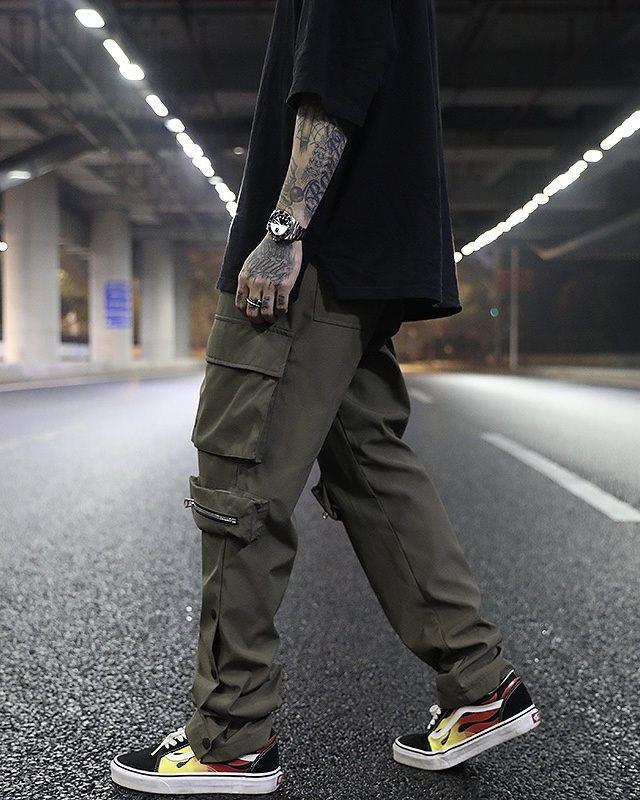 《2色》ビッグポケットサイドスナップカーゴジョガーパンツの画像1